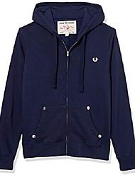 cheap -men's classic logo long sleeve zip up hoodie, ace, small