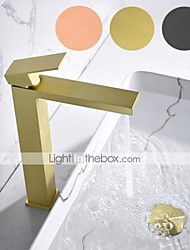 cheap -Bathroom Sink Faucet - Waterfall Painted Finishes Mount Outside Single Handle One HoleBath Taps