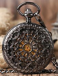 cheap -men's spider web vintage steampunk skeleton mechanical pocket watch christmas gifts