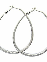 cheap -sterling silver hammered teardrop hoop earrings sterling silver twisted dangle earrings oval round earrings for women