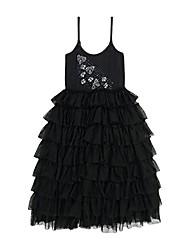 cheap -girls' little bee-spoke dress black, 2y