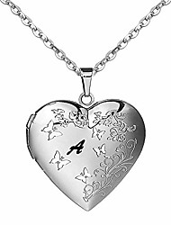 cheap -a necklace initial | locket necklace for women girls that holds pictures | butterfly necklace