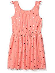 cheap -kids girls' sleeveless dress, sugar coral, large (12/14)