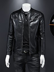 cheap -mens leather jackets motorcycle bomber biker white real leather jacket men
