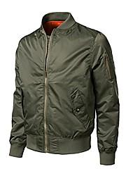 cheap -men zipper outwear autumn winter casual solid bomber jacket(green,s)