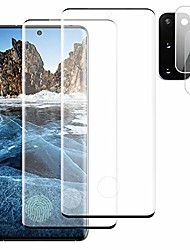 """cheap -[2+2] galaxy s20 plus 5g hd tempered glass screen protector + camera lens protector [scratch resistant][3d curved full protection][high sensitive] support fingerprint for samsung galaxy s20+/plus 6.7"""""""