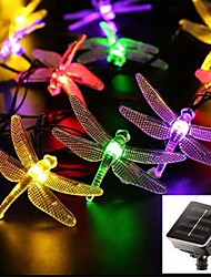 cheap -6.5M Solar Dragonfly Lights Solar Fairy String Lights for Xmas Party garden Decorations Outdoor Solar Lamp