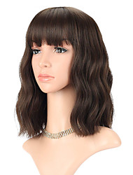 cheap -Synthetic Wig Loose Curl With Bangs Wig Short A15 A16 A17 A18 A19 Synthetic Hair Women's Fashionable Design Classic Easy to Carry Blue Pink