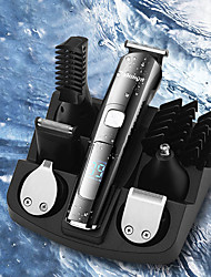 cheap -New 6 In 1 Multifunctional Hair Clipper Whole Body Washing Razor LCD Digital Display USB Electric Clippers