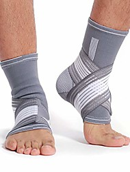 cheap -neotech care ankle brace support (1 pair) - elastic & breathable fabric - adjustable compression strap - for men, women, youth - left or right foot - grey color (size xl)