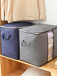cheap -Moisture-proof Breathable Visible Quilt Bag Home Cabinet Clothing Dust-proof Finishing Storage Bag Moving Bag