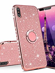 cheap -Phone Case For Xiaomi Silicone Shockproof with Stand Glitter Shine