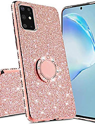 cheap -samsung galaxy a71(5g) phone case,glitter sparkle bling kickstand case shiny crystal rhinestone diamond 360 degree ring grip magnetic bracket phone cover for samsung galaxy a71 5g hh rose gold