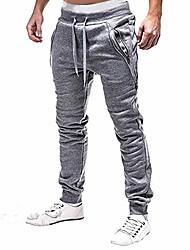 cheap -mens sweatpants With Zipper Pockets fashion jogger sports pants trousers long pants Running Jogging lightgray