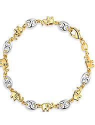 cheap -18k gold plated elephant bracelets (many different elephant options) (2 tone br1975-2t)