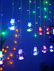cheap -2.5M 12 Ball Wishing Ball Curtain Led Light String Warm White Colorful Fairy Flexible String Lighting For Christmas Tree New Year Showcase Decoration AC220V 230V 240V EU Plug