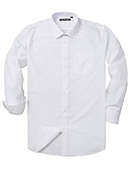 cheap -verno fashion men's long sleeve dress shirts regular fit solid dress shirts for men formal shirts- many colors white