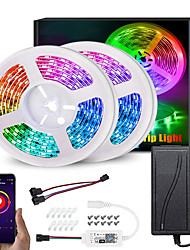 cheap -RGB IC LED Lights Strip Kit WS2811 5M 10M 5050 RGB 30LEDs Per Meter Waterproof Dream-color Flexible Addressable LED Strip with APP WIFI Controller and Adapter DC12V
