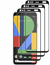 cheap -compatible [3 - pack] google pixel 4 tempered glass screen protector,[9h hardness][anti-scratch] [anti-fingerprint][3d curved][ultra clear] screen protector for google pixel 4(black)