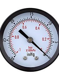 cheap -0-30inHg 0-1bar Mini Dial Air Vacuum Pressure Gauge Meter Pressure Gage Vacuum Manometer Double Scale