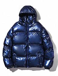 cheap -men's metallic hooded puffer jacket small a350 navy