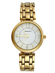 cheap -ladies japan quartz water resistant bracelet bangle round arabic numeral dial metal wrist watch (gold)