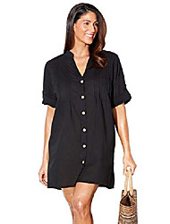 cheap -swimsuits for all women's plus size button up shirt swimsuit cover up 6 black