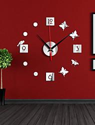 cheap -Wall Clock Pattern  DIY 3D Decorative Wall Sticker Home Decor Clock Living Room Home Decoration Mirror Art Design ZB022