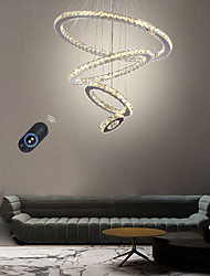 cheap -Dimmable 4 Rings 70/50/30/15 cm LED Chandelier Crystal  Pendant Light Metal Electroplated Modern Contemporary Traditional Classic 110-120V 220-240V