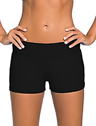 cheap -women's wide waistband swimsuit bottom shorts swimming panty black xxxl 22 24