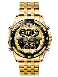 cheap -KADEMAN Men's Digital Watch Analog - Digital Digital Sporty Big Face Water Resistant / Waterproof Calendar / date / day Stopwatch / Two Years / Stainless Steel / Stainless Steel