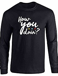 cheap -how you doin? 90s quote funny retro black 3xl full long sleeve tee t-shirt