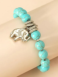 cheap -Women's Men's Bead Bracelet Friendship Bracelet Vintage Bracelet Beads Elephant Birthday Vintage Theme Unique Design Ethnic Vintage Punk Trendy Stone Bracelet Jewelry Blue For Christmas Party Evening