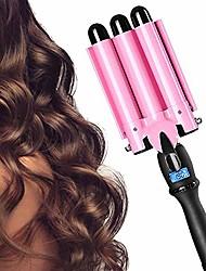 cheap -3 barrel curling iron triple barrel curling iron beach wave iron hair waver iron hair crimper 25mm deep waver wand