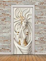 cheap -Self-adhesive Creative Door Sticker Goddess Sculpture Living Room DIY Decoration Home Waterproof Wall Sticker