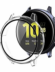 cheap -1 Pcs Smartwatch Screen Protector With case for galaxy watch active 2  40mm,hard pc case built in hd tempered glass ultra thin full protection cover transparent