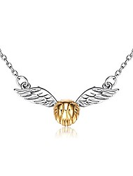 cheap -jewelry sterling silver quidditch costume cute gold plated flying golden snitch pendant necklace gifts for women or girl