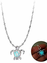 cheap -glow in the dark turtle necklace for women christmas jewelry can open locket pendant for moms