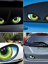 cheap -2Pcs 3D Stereo Reflective Cat Eyes Car Sticker Car Auto Side Fender Eye Stickers Adhesive Creative Rearview Mirror Deca #269128