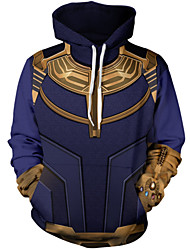 cheap -unisex fashion captain superhero galaxy 3d digital printed pullover hoodies hooded sweatshirts for sport and party, purple, x-large