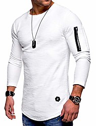 cheap -mens sweatshirts fashion athletic solid color slim fit sport lightweight long sleeve pullover white xxl