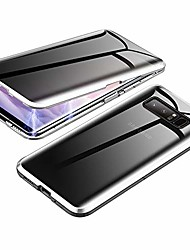 cheap -anti-spy case for samsung galaxy s10 plus,  360 degree front and back privacy tempered glass cover, anti peeping screen, magnetic adsorption metal bumper for samsung galaxy s10+ (silver)