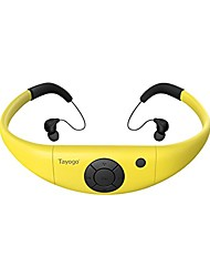cheap -8gb waterproof mp3 player, bluetooth swimming waterproof headset underwater 10ft with shuffle feature, support fm app flash drive - yellow