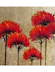 cheap -Oil Painting Handmade Hand Painted Wall Art Home Decoration Decor Rolled Canvas No Frame Unstretched Abstract Red Cockscomb Flowers