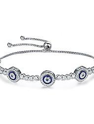 cheap -925 sterling silver evil eye link tennis bracelets adjustable bracelet thanksgiving gifts for women