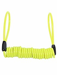 cheap -disc lock cable, motorcycle reminder cable disc lock cable 1.5m alarm lock security spring reminder cable antitheft protection on handlebar(yellow)