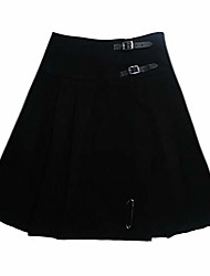 cheap -women's  black 23 inch kilt skirt size us 18