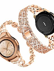 cheap -compatible for galaxy watch 42mm band,20mm women bling stainless steel metal replacement bracelet strap for samsung galaxy watch 42mm/active/active2 40mm 44mm(2 pack) (rose gold)