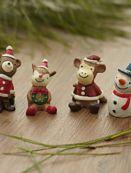 cheap -Christmas Resin Crafts Ornaments Office Desk Decorations Christmas Gifts