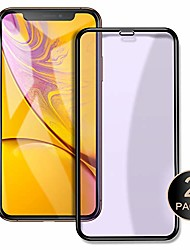 "cheap -compatible screen protector for iphone xr 6.1"" 3d curved surface tempered glass film [2 pack] 3d touch full screen coverage (clear2(anti-blue ray))"